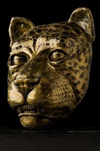"Título: ""Mascarón de Jaguar"". Año: 2016. Artista: Emerson Chicol. Técnica: Modelado/Fundición Marmolina. Celular y Whatsapp: 4962 1713 Facebook: esculturas chicol"